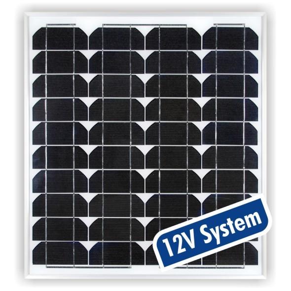 panneau solaire monocristallin 30wc 12v. Black Bedroom Furniture Sets. Home Design Ideas