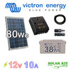 Solar kit Victron 12v 80Wc + battery 38Ah