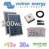 Solar kit Victron 12v 200Wc + battery 220Ah