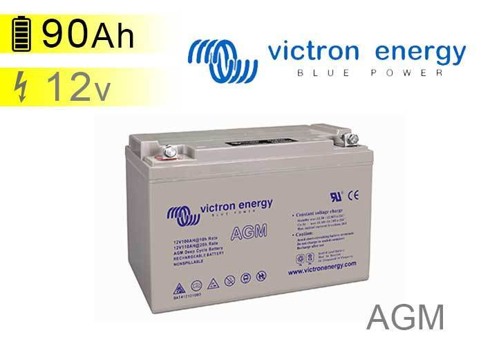 agm battery 90ah 12v victron energy. Black Bedroom Furniture Sets. Home Design Ideas