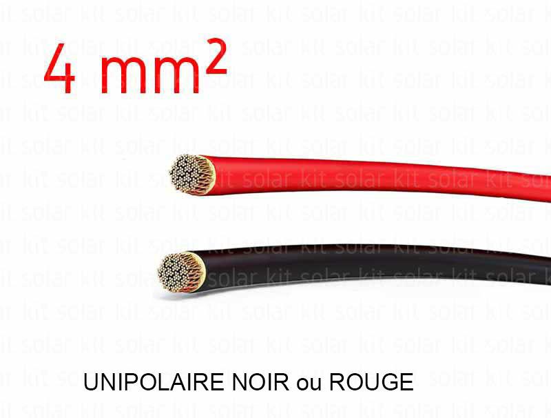 C ble lectrique solaire 4 mm vendu au m tre for Diametre exterieur cable electrique