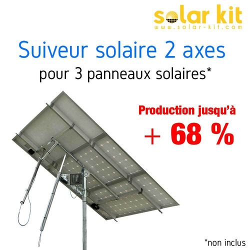 DUAL AXIS SUN TRACKERS FOR 3 SOLAR PANELS