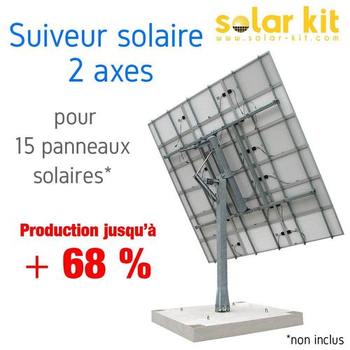 DUAL AXIS SUN TRACKERS FOR 15 SOLAR PANELS