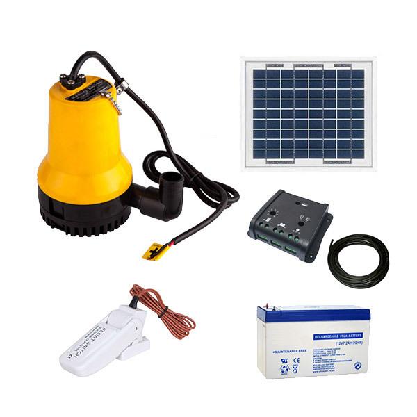 kit solaire 5w pompe eau complet 70 l min avec flotteur. Black Bedroom Furniture Sets. Home Design Ideas