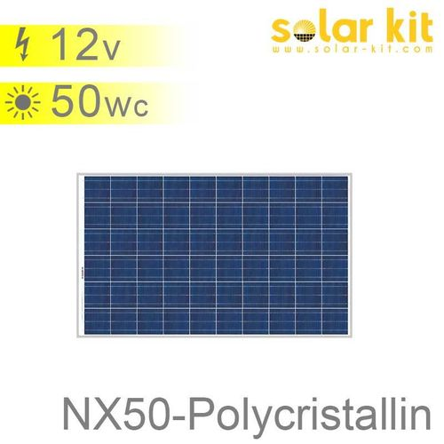 Panneau solaire 50Wc 12V polycristallin NX