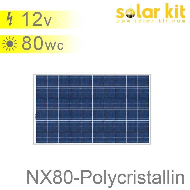panneau solaire 80 wc