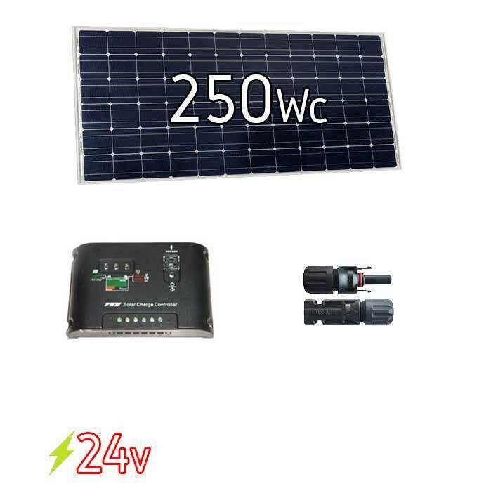 kit solaire photovoltaique 24v 250w de. Black Bedroom Furniture Sets. Home Design Ideas