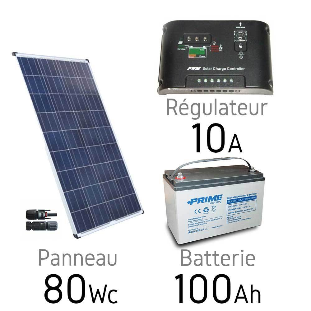 kit solaire photovoltaique 12v 80wc batterie 65ah uc pt. Black Bedroom Furniture Sets. Home Design Ideas