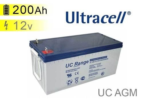 Batterie solaire AGM 12v 200Ah Ultracell UC