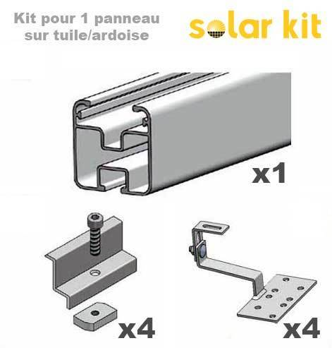 Solar Panel Mounting kit for pitched roof - 1 solar panel 35mm