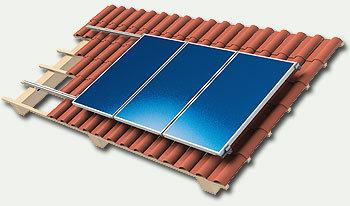structure de pose pour 1 panneau solaire 35mm sur toit en tuiles ou ardoises. Black Bedroom Furniture Sets. Home Design Ideas