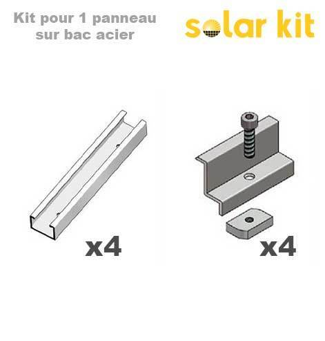 Solar Panel Mounting kit for industrial roof - 1 solar panel 35mm
