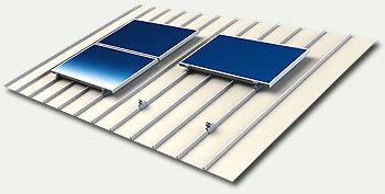 structure de pose pour 1 panneau solaire 35mm sur bac acier. Black Bedroom Furniture Sets. Home Design Ideas