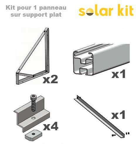 Solar Panel Mounting kit for flat roof and ground - 1 solar panel 35mm