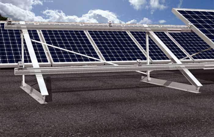 structure de pose pour panneaux solaires sur bac acier plan ou jardin it. Black Bedroom Furniture Sets. Home Design Ideas