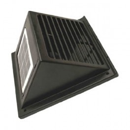 Ventilation kit with solar panel movable and battery