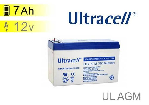 Batterie solaire Ultracell UL AGM 12v 7Ah