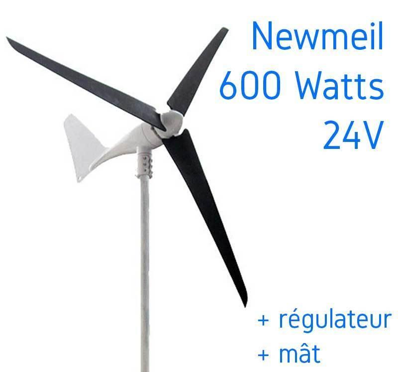 kit eolienne 24v 600w newmeil x 600 r gulateur m t 6m solar kit. Black Bedroom Furniture Sets. Home Design Ideas