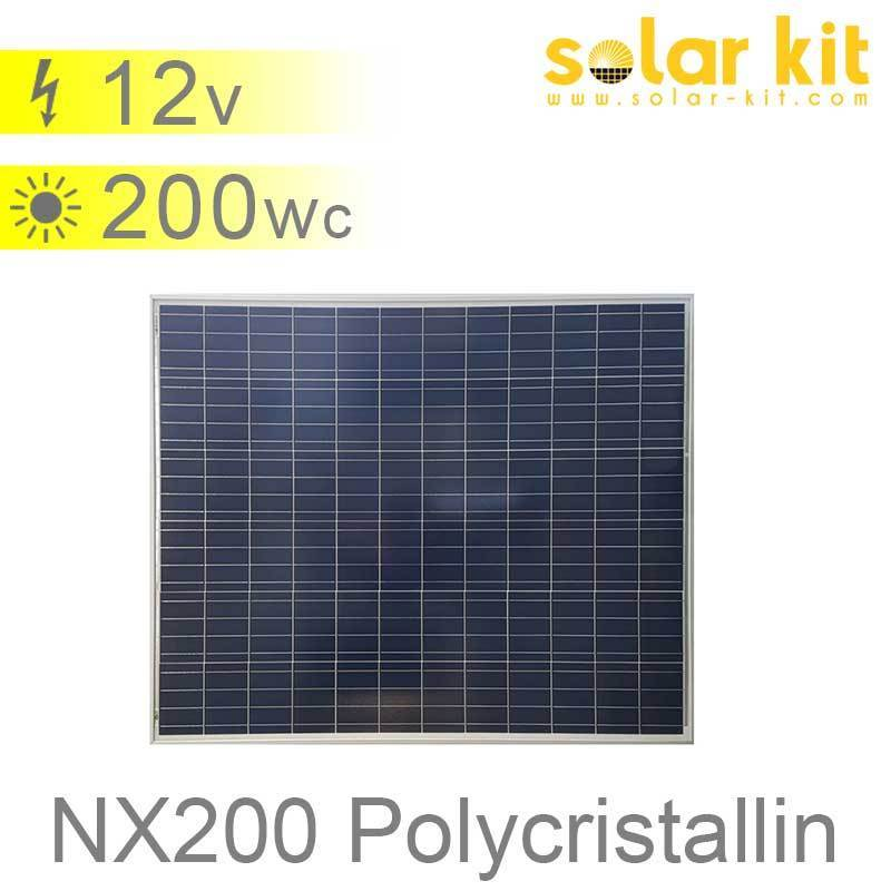 panneau solaire 200wc 12v polycristallin nx solar kit. Black Bedroom Furniture Sets. Home Design Ideas