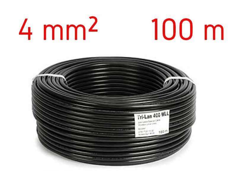 C ble lectrique solaire 4mm bobine de 100m rouge ou noir for Diametre exterieur cable electrique
