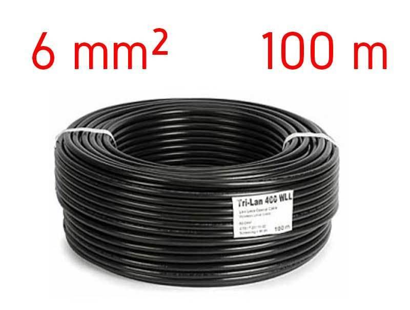 C ble lectrique solaire 6mm bobine de 100m rouge ou noir for Diametre exterieur cable electrique