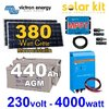 Solar kit 380Wc Victron + inverter 230V 4000W