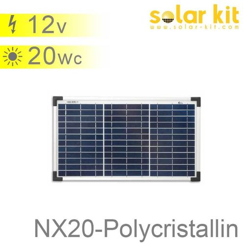 Panneau solaire 20Wc 12V polycristallin NX