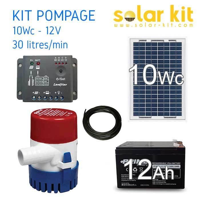 Kit panneau photovoltaïque 10W 12V Régulateur de charge PWM 5A EPsolar