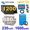 Solar kit 1200Wc-880Ah Victron + inverter 230V 1600W