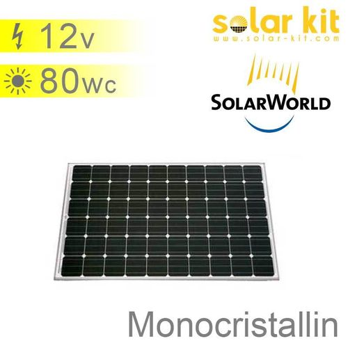 Solar panel 80Wp 12V SolarWorld SW80RHA