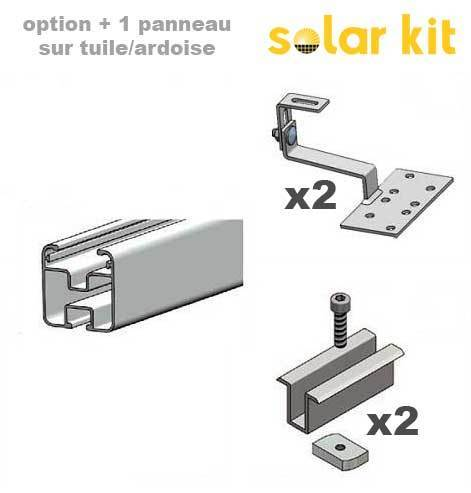 Additional mounting kit for pitched roof for 1 more solar panel 35mm