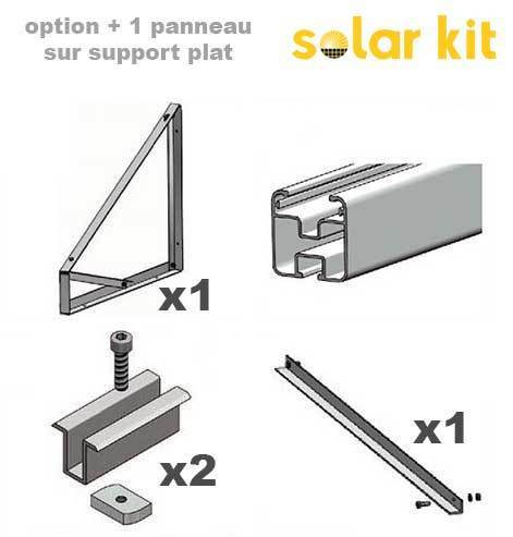 Additional mounting kit for flat roof and ground for 1 more solar panel 35mm