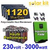 Kit solaire 230V 3000W - 1120Wc Poly - Batterie OPzS