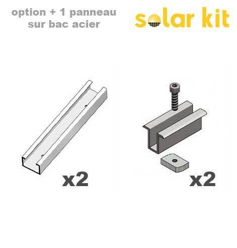 Additional mounting kit for industrial roof for 1 more solar panel 35mm