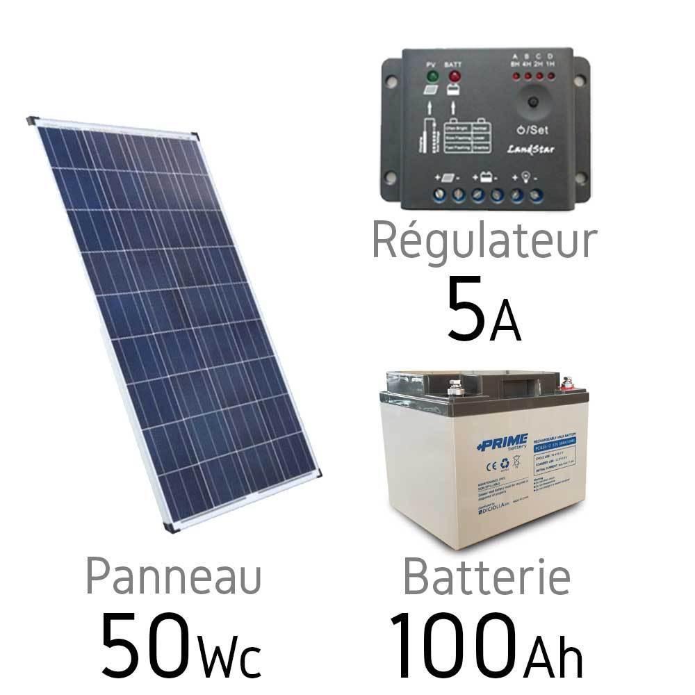 Solar Kit 12v 50wc Battery 100ah