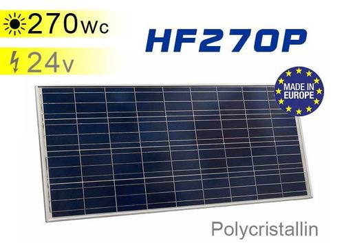 Solar panel 270 Wp 24Vdc polycrystalline European