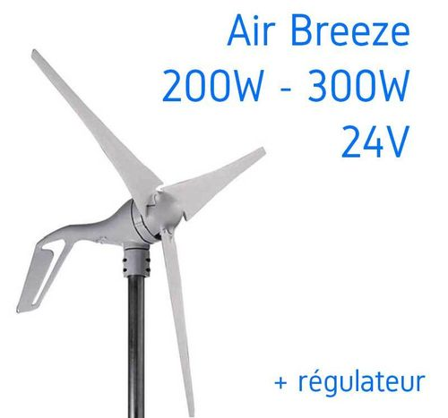 Eolienne marine 300W AIR BREEZE + Régulateur de charge éolien it