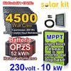 Solar kit on grid 230V 10kW - 4500Wp MPPT - OpzS battery - 3 phases