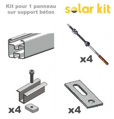 Solar Panel Mounting kit for concrete structure - 1 solar panel 35mm