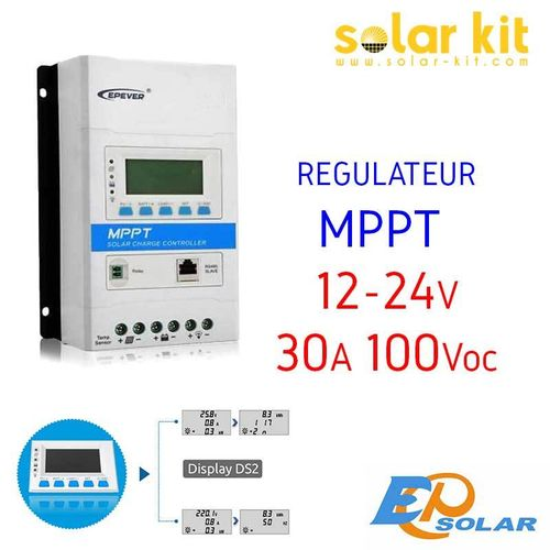 MPPT charge controler 30A 12-24V TRIRON DS2 EPSOLAR
