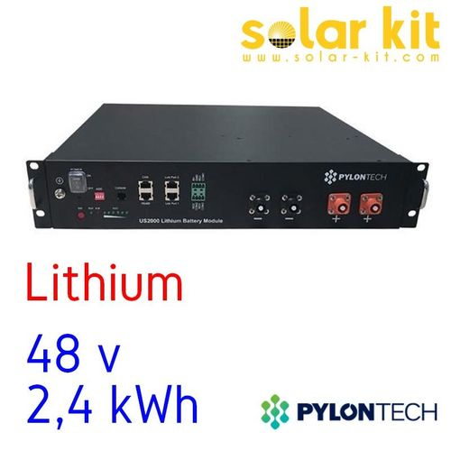 Battery Lithium Pylontech US2000 Plus 2.4kWh 48V