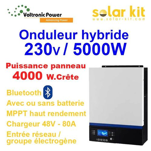 HYBRIDE INVERTER 230V 5000W 48V  MPPT 4000Wp - bluetooth