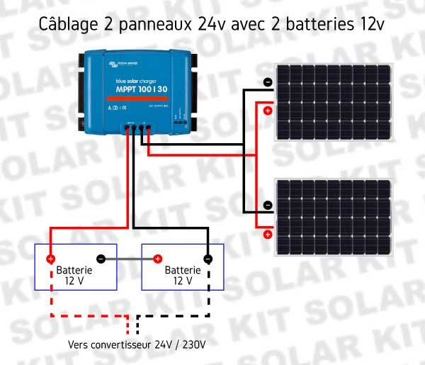 kit solaire victron 600wc avec convertisseur 230v 900w. Black Bedroom Furniture Sets. Home Design Ideas