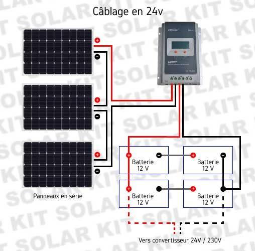 kit solaire 12v 24v 750wc batterie 800ah gel solar kit. Black Bedroom Furniture Sets. Home Design Ideas